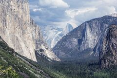 Yosemite Tunnel view Royalty Free Stock Photos