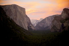 Yosemite tunnel view Royalty Free Stock Photo