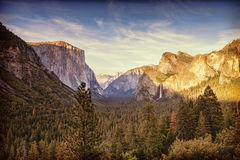 Yosemite Tunnel View Royalty Free Stock Photography