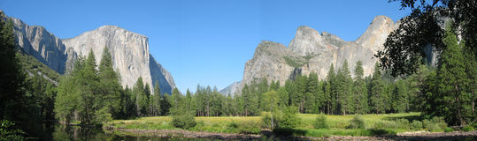 Yosemite Valley. Panoramic Royalty Free Stock Photo