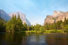 Yosemite Valley. Merced River meadows, Yosemite Valley, Yosemite National Park, California, USA Royalty Free Stock Photo