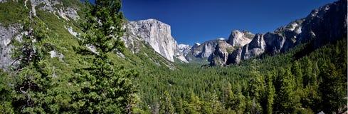 Yosemite Valley. Panorama shot in Summer 2010 Royalty Free Stock Image