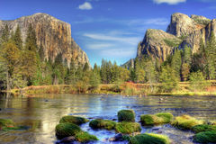 Yosemite Valley in Autumn Stock Photo