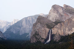 Yosemite Valley with Bridal Veil Falls Stock Image