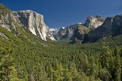 Yosemite Valley in California. The vast beauty of Yosemite Valley in the Yosemite National Park stock image