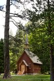 YOSEMITE VALLEY CHAPEL, YOSEMITE NATIONAL PARK, CALIFORNIA, USA - May 16, 2016 Stock Photo