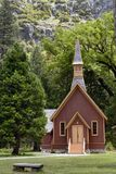 YOSEMITE VALLEY CHAPEL, YOSEMITE NATIONAL PARK, CALIFORNIA, USA - May 16, 2016 stock photography