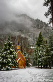Yosemite Valley Chapel at winter - Yosemite National Park, California, USA Stock Photography