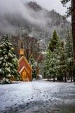 Yosemite Valley Chapel at winter - Yosemite National Park, California, USA Royalty Free Stock Image
