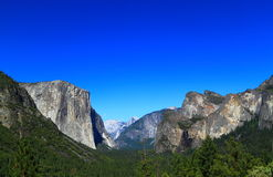 Yosemite Valley Grand View Stock Photo