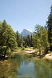 Yosemite valley and Half Dome Royalty Free Stock Photos