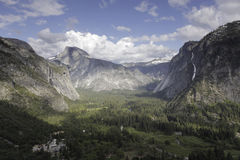 Yosemite Valley with Half Dome in the distance Stock Photos
