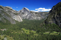 Yosemite Valley and Half Dome Mt. Royalty Free Stock Image