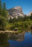 Yosemite valley lake Stock Photo