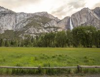 Yosemite Waterfall View. Yosemite Valley Landscape Waterfall View Royalty Free Stock Photography