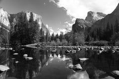 Yosemite Valley Merced River Reflection. Royalty Free Stock Photos