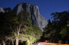 Yosemite Valley by Moonlight Royalty Free Stock Photography