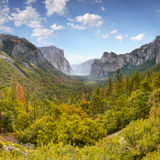 Yosemite Valley. Yosemite Mountains and Valley view in autumn. California Royalty Free Stock Photos