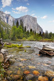 Yosemite Valley, National Park. Mt. El Capitan and Merced river view. Yosemite National Park, California. US Royalty Free Stock Images