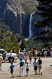 Yosemite Valley Overlook 4. Tourists at the tunnel view overlook in Yosemite National Park Royalty Free Stock Images