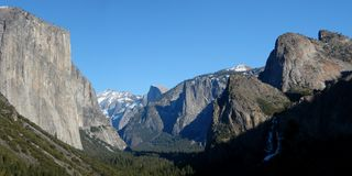Yosemite valley panorama Stock Images