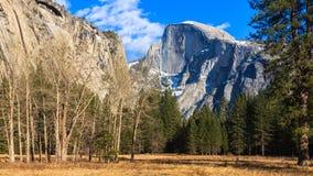 Yosemite Valley Panorama. Panorama of Yosemite Valley with Half Dome Royalty Free Stock Photo