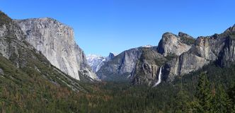 Yosemite Valley Panorama Royalty Free Stock Images