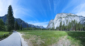 Yosemite Valley Panorama, National Park in California Stock Image