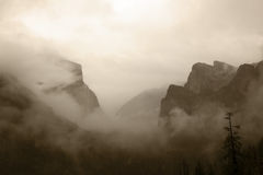 Yosemite Valley in Rain Stock Images