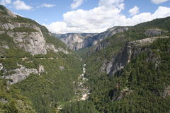 Yosemite valley from road to Hetch hetchy Stock Photography