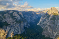 Yosemite Valley, Royal Arches and Half-dome Stock Images