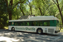 Yosemite Valley Shuttle Bus Stock Photo