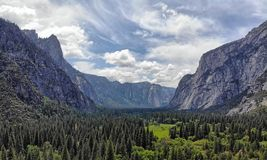 Yosemite Valley in the Spring, Yosemite National Park, California royalty free stock images