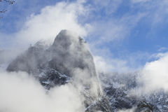Yosemite Valley Storm. Snow Storm in Yosemite Valley Royalty Free Stock Images