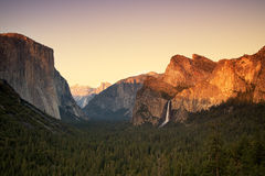 Yosemite Valley Sunset Stock Photo