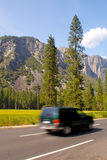 Yosemite Valley Travel SUV Stock Image