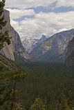 Yosemite Valley from the tunnel entrance. Yosemite National Park, California Royalty Free Stock Photos
