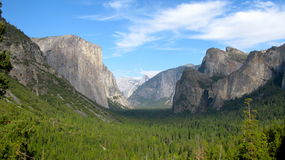 Yosemite Valley, tunnel view Royalty Free Stock Photos