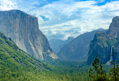 Yosemite Valley Tunnel View royalty free stock image