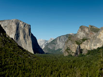 Yosemite valley from Tunnel View Royalty Free Stock Photos