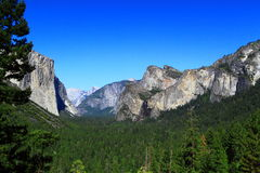 Yosemite Valley Tunnel View Stock Images