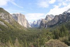 Yosemite Valley from Tunnel View in Yosemite NP Royalty Free Stock Photos