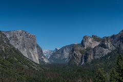 Yosemite Valley from Tunnel View Stock Photography