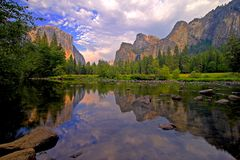 Yosemite Valley View. Valley View in Yosemite, California Stock Image