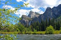 Yosemite Valley view of Bridalveil fall, Yosemite National Park Stock Image