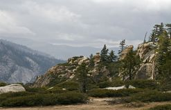 Yosemite Valley in the western Sierra Nevada mountains of Califo Royalty Free Stock Image