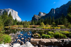 Yosemite Valley in Yosemite National Park Stock Photos