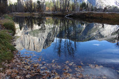Yosemite Valley Water Reflections Stock Image