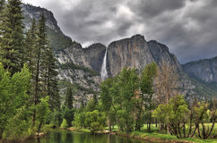 Yosemite vie from the river stock photography