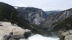 Yosemite Waterfall On A Clear Day Royalty Free Stock Image